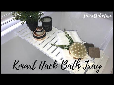 DIY | KMART HACK | Bath Tray Caddy
