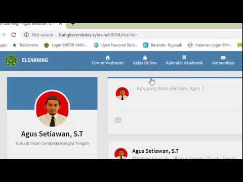 Tutorial Buat Kelas Online Di E-learning Madrasah (singkat, Lengkap Dan Jelas)