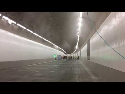 Testing fire systems inside the SR 99 tunnel
