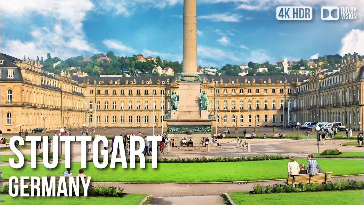 Stuttgart Inner City On A Beautiful Early Sunday Morning - 🇩🇪 Germany - 4K Walking Tour