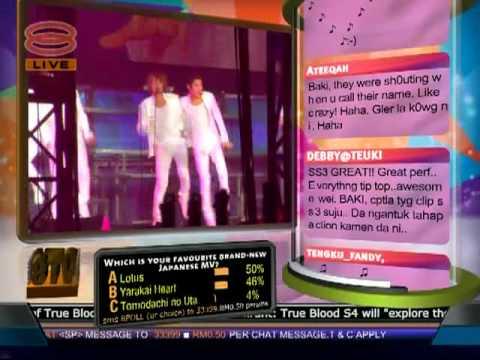 [#33] SJ-WORLD.NET appearance in Malaysia's national TV broadcast; 8TV Nite Live!