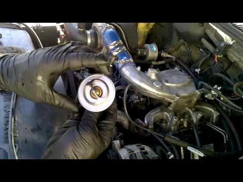 Changing 6.5 Diesel Thermostat and Gasket With a Single ...