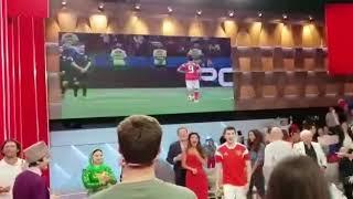 Россия сравнивает счёт 2:2 Реакция в студии Первого канала