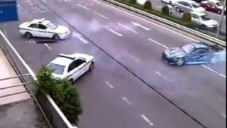 Dando show de drift na cara dos policiais! HD