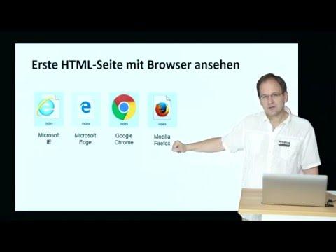 Erste HTML-Seite Erstellen Und Speichern - Https://www.html-seminar.de