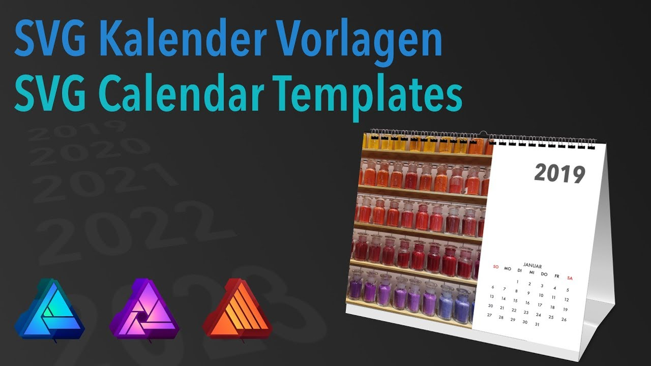 Affinity Designer Photo Publisher Svg Calendar Templates German