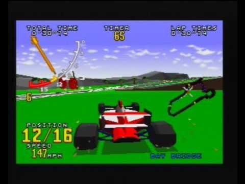 Sega Saturn A Z Virtua Racing Gameplay Youtube