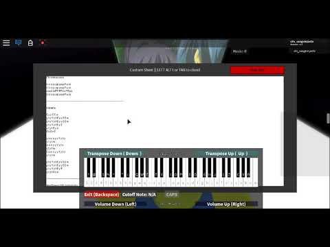 ROBLOX - piano ♪ ♫ - Playing on an oof piano