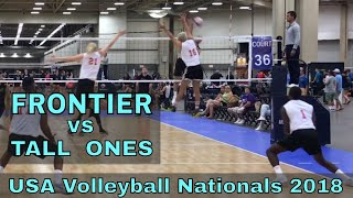 Frontier vs Tall Ones (Day 2, Match 6) - USAV Nationals 2018 Volleyball Tournament