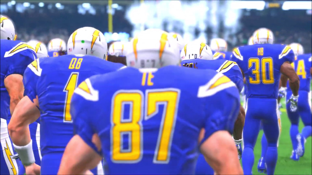 the best attitude cbabd 73800 Madden 20 Color Rush GIANT 7 FOOT 400 POUND Los Angeles Chargers vs New  Orleans Saints