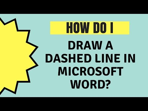 How Do I Draw A Dashed Line In Word?
