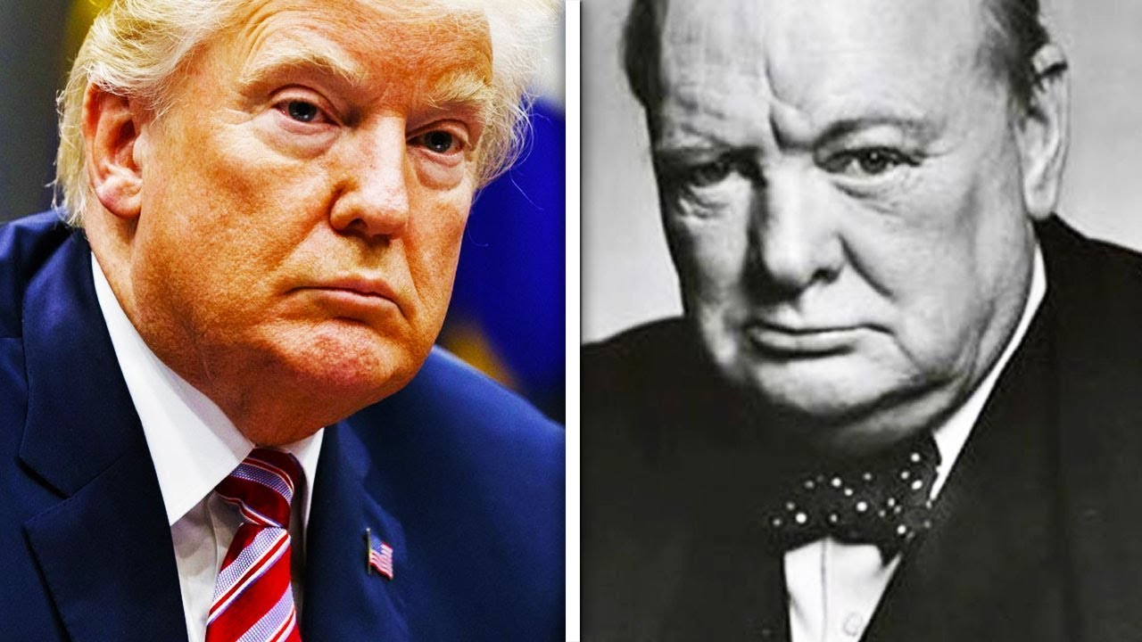 Image result for Trump and Churchill