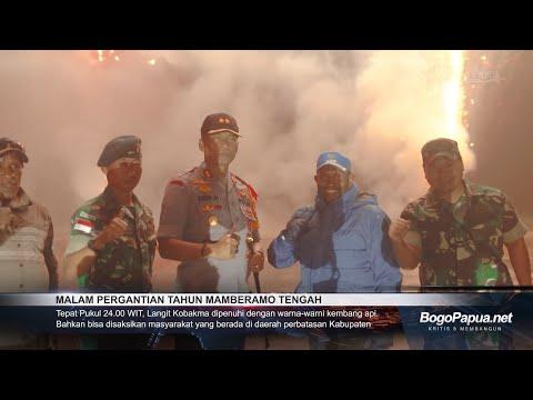 Pesta Kembang Api Warnai Perayaan Malam Pergantian Tahun di Mamteng
