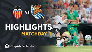 Highlights Valencia CF vs Real Sociedad (1-1)