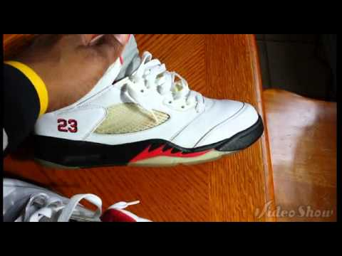 9fa0a458ea4da6 Air Jordan V (5) Fire Red Cdp + On foot - YouTube