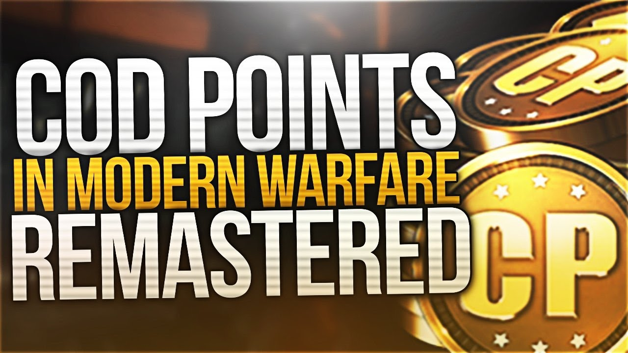 maxresdefault - How To Get Free Cod Points Modern Warfare Remastered