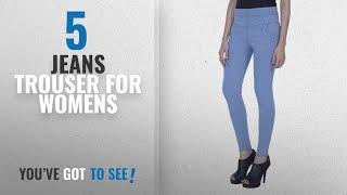 Top 10 Jeans Trouser For Womens [2018]: DAMEN MODE Light Blue Denim Jeggings