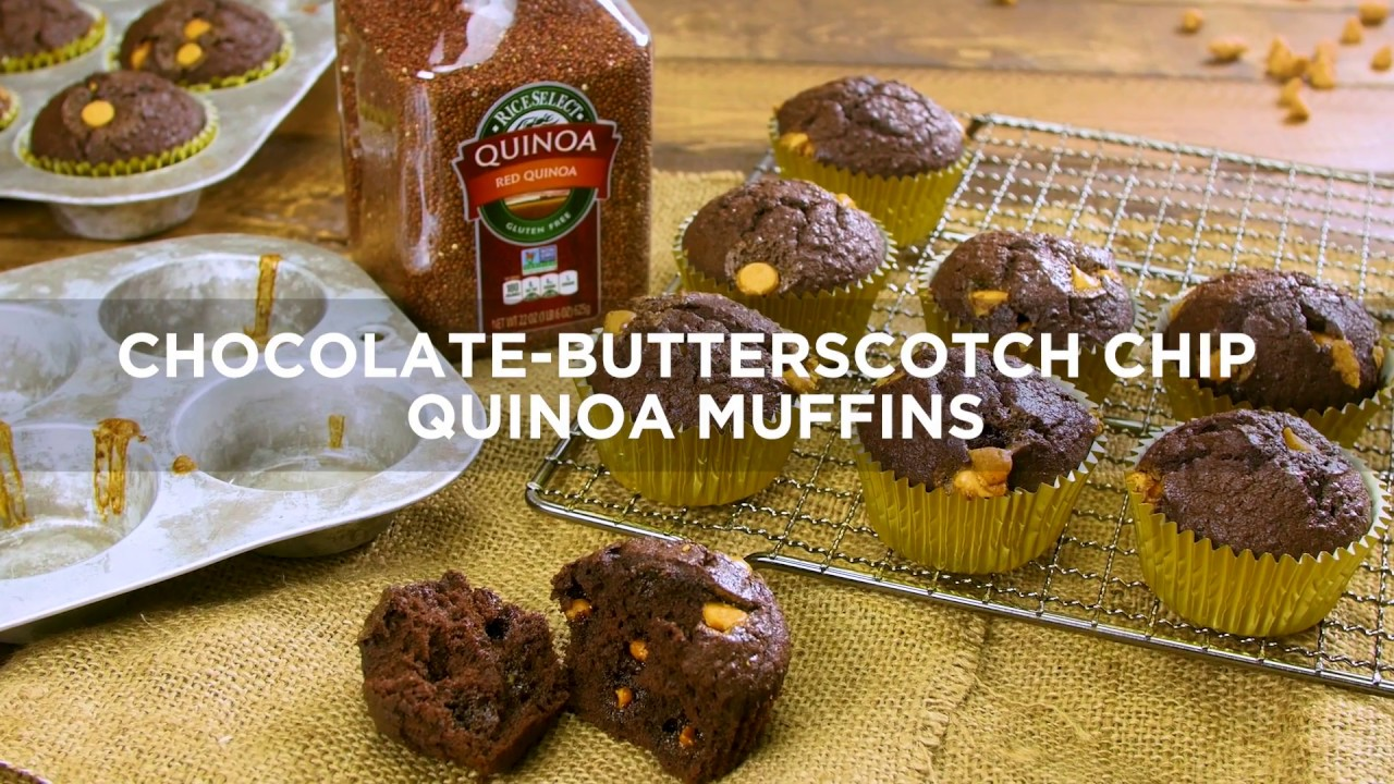 Chocolate Butterscotch Chip Quinoa Muffins by