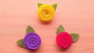 Membuat bross sendiri dengan cara yang mudah bukanlah hal tidak mungkin. dan video ini menjelaskan betapa mudahnya mawar dari kain flanel....