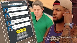 NBA 2k17 MyCAREER - Off Day #3! Carmelo Texting To Recruit Gento Now! 1st Team Live Practice! Ep. 13