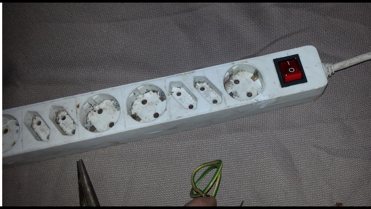 Circuito Zapatilla Electrica : Reparar regleta electrica base toma multiple interruptor