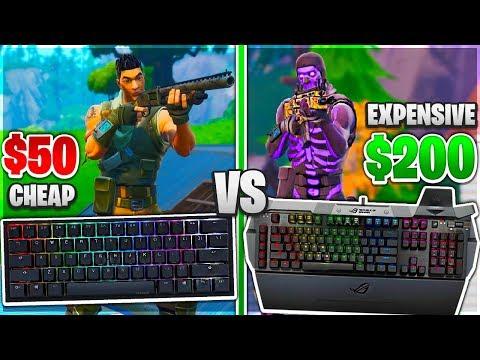 Testing Cheap VS Expensive Keyboards in Fortnite! ($50 VS $200 Gaming Keyboard)