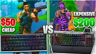 Testing Cheap VS Expensive Keyboards in Fortnite! ($50 VS $200 Gaming Keyboard)