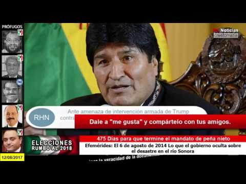 """URGENTE"" TRUMP AMENAZA CON GUERRA A VENEZUELA: BOLIVIA LE RESPONDE"