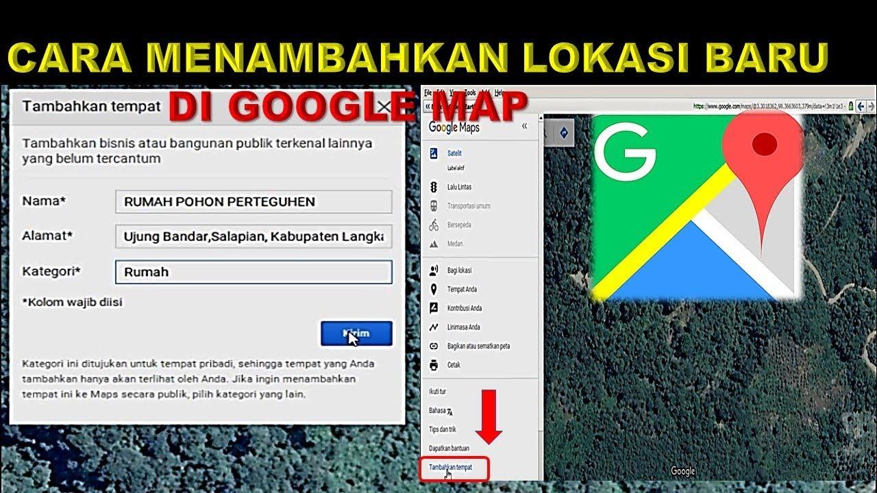 memunculkan koordinat di google map