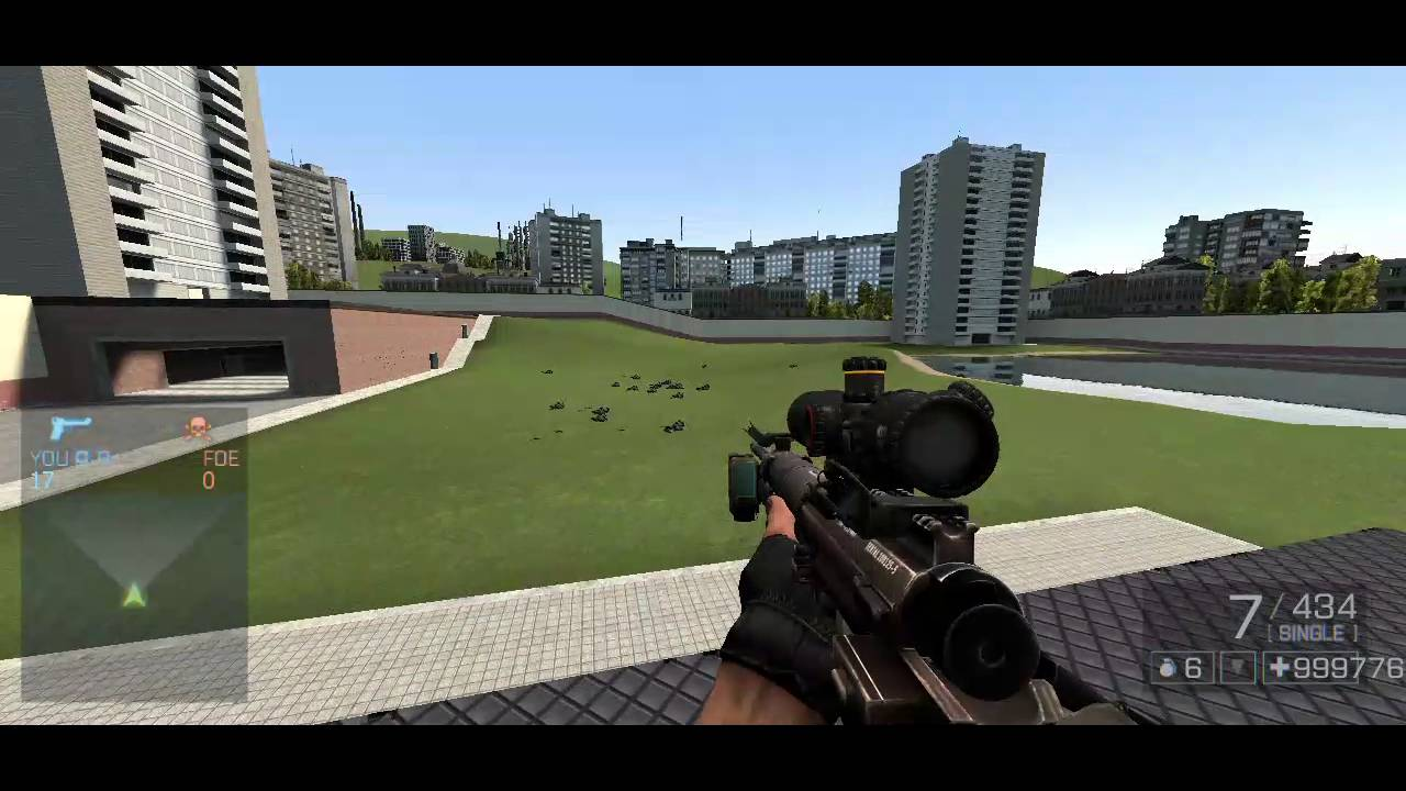 Garry's Mod battlefield 4 weapon and hud mod