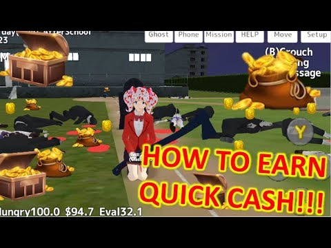 [School Girls Simulator] HOW TO EARN QUICK MONEY & EVALUATION !!