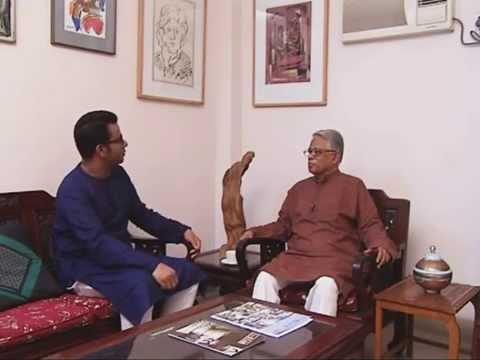 """Prof.Nazrul Islam at """"Keertymaner Galpokatha"""" programme on BTV."""