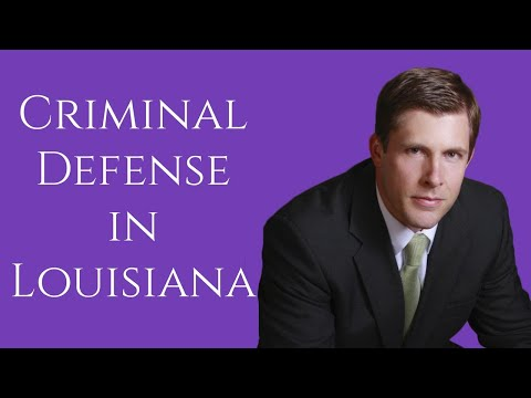 Criminal Defense Lawyer in Louisiana | Carl Barkemeyer, Criminal Defense Attorney from YouTube · Duration:  1 minutes 48 seconds