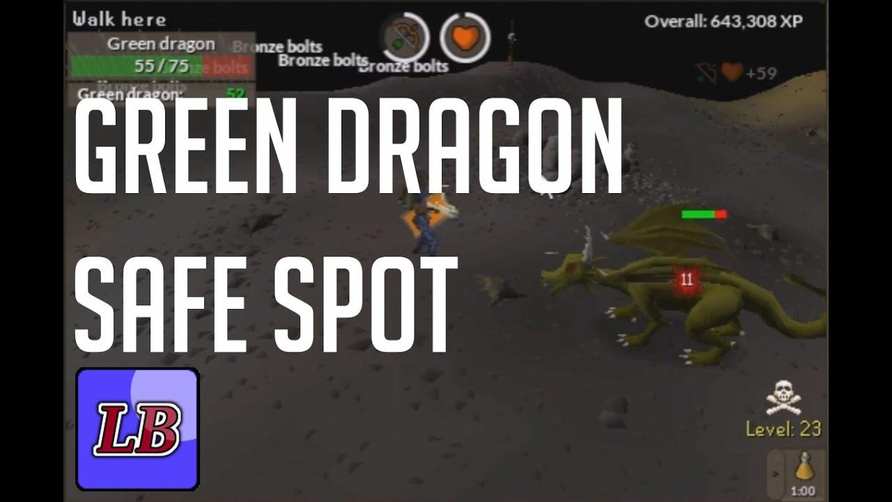 Runescape Green Dragons Safe Spot Youtube