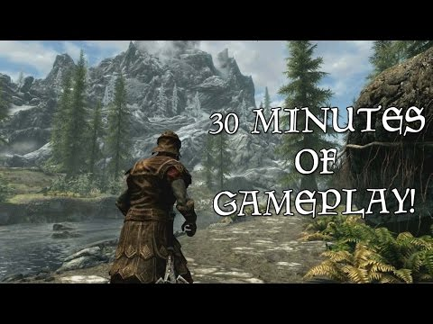 30+ Minutes Of SKYRIM SPECIAL EDITION Gameplay!