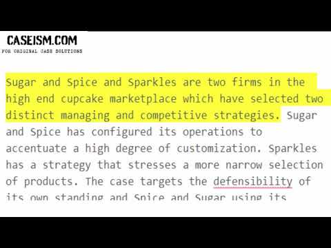 Sugar & Spice Desserts: Strategic Position Defensibility Case Study Help - Caseism.com