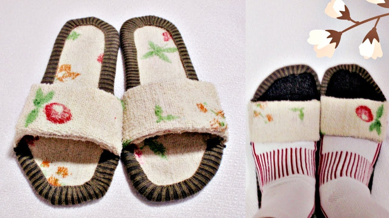 How to Make Your Own Home Slippers from Scratch (Simple, Easy, No ...