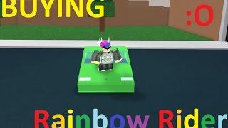 Buying RAINBOW RIDER ROBLOX HIGHSCHOOL/RHS!!!