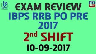 Exam Review With Cut Off | IBPS RRB PO PRE 2017 | 2nd  Shift 2017 Video