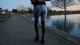 Miss Sixty - Nixie One - Tight skinny bootcut jeans and over the knee high heel boots