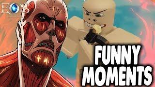THE SADDEST TITAN SLAYER! | Roblox Attack On Titan Revenge Funny Moments| ft Echo of Soul