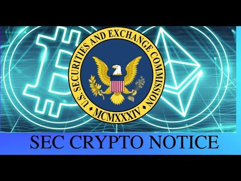 SEC Issues Notice to Investors - Government Regulation on Cryptocurrency?