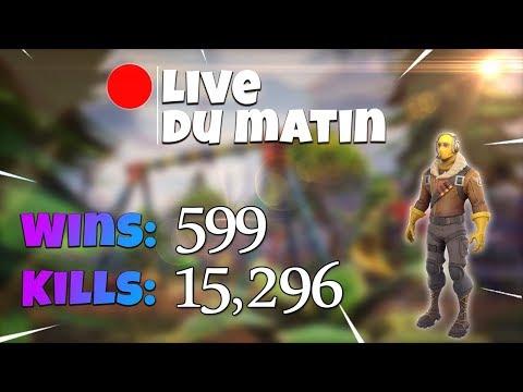 [FR/PC/LIVE] Fortnite  en solo 599 wins /  Rush lvl 34 / 100