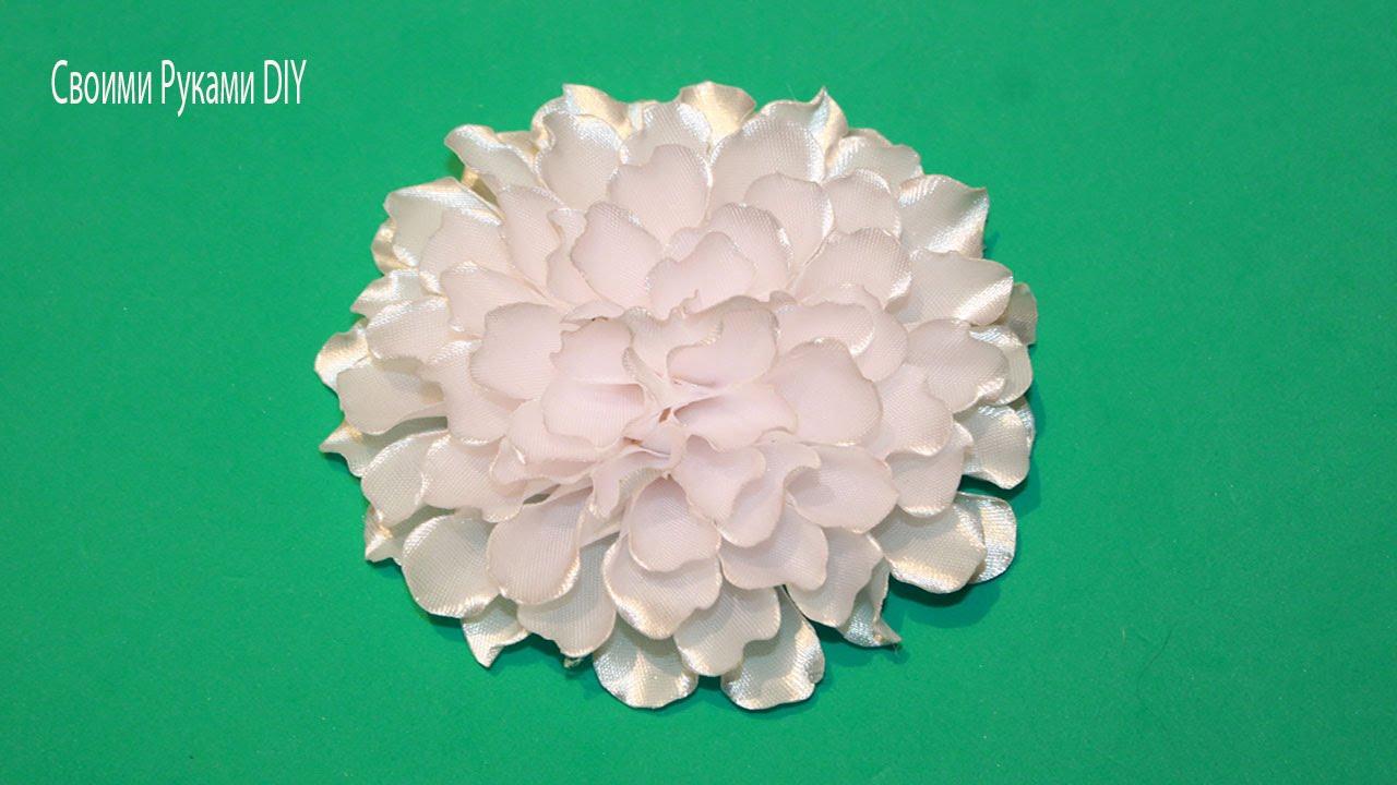 Цветы из ткани своими руками ленты 122