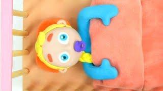 BABY ELSA CAN'T SLEEP ❤ Frozen Elsa, Spiderman & Hulk Play Doh Cartoons For Kids