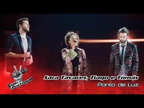 Sara Tavares, Tiago Nacarato e Tomás Adrião -