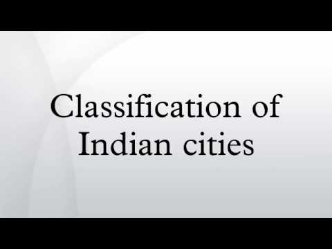 Classification of Indian cities