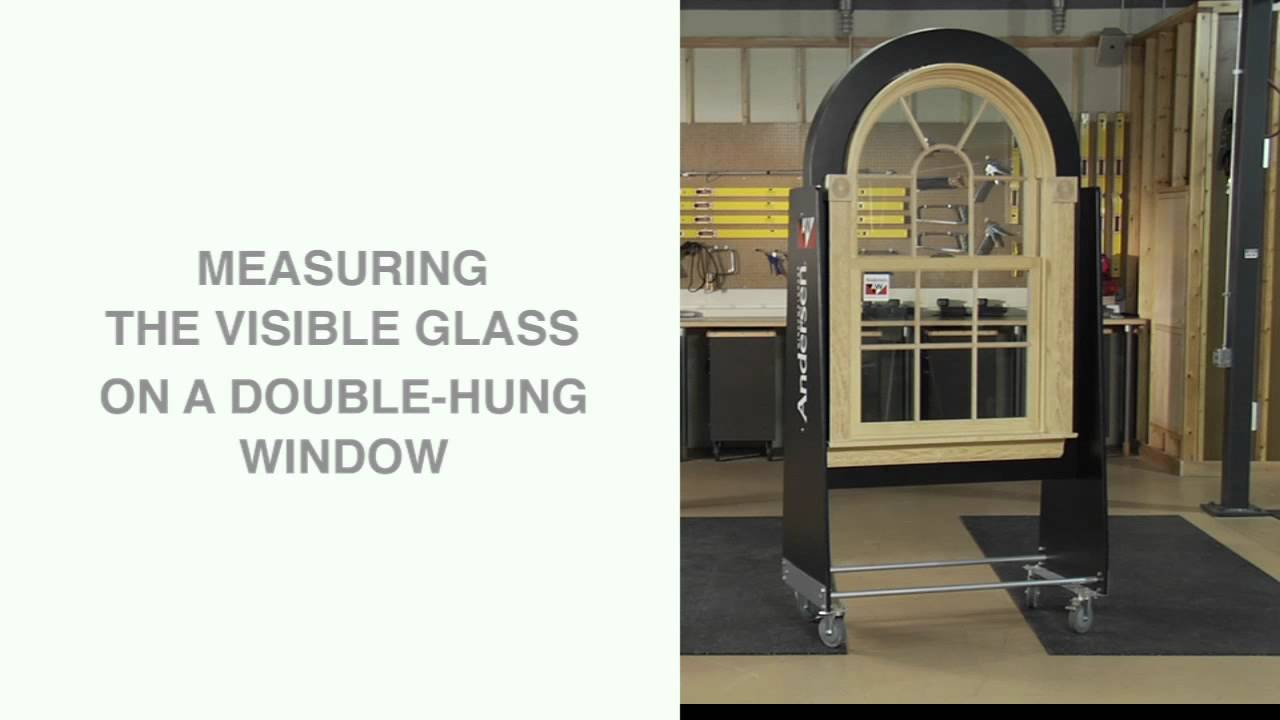Anderson Doors And Windows >> How to Measure Visible Glass - Andersen Windows - YouTube
