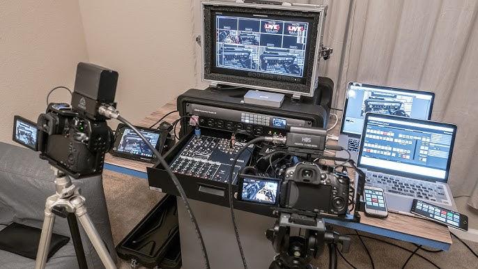 Walk Through Blackmagic Design 4k Atem Multi Cam Live Switch Live Stream Video Setup Youtube
