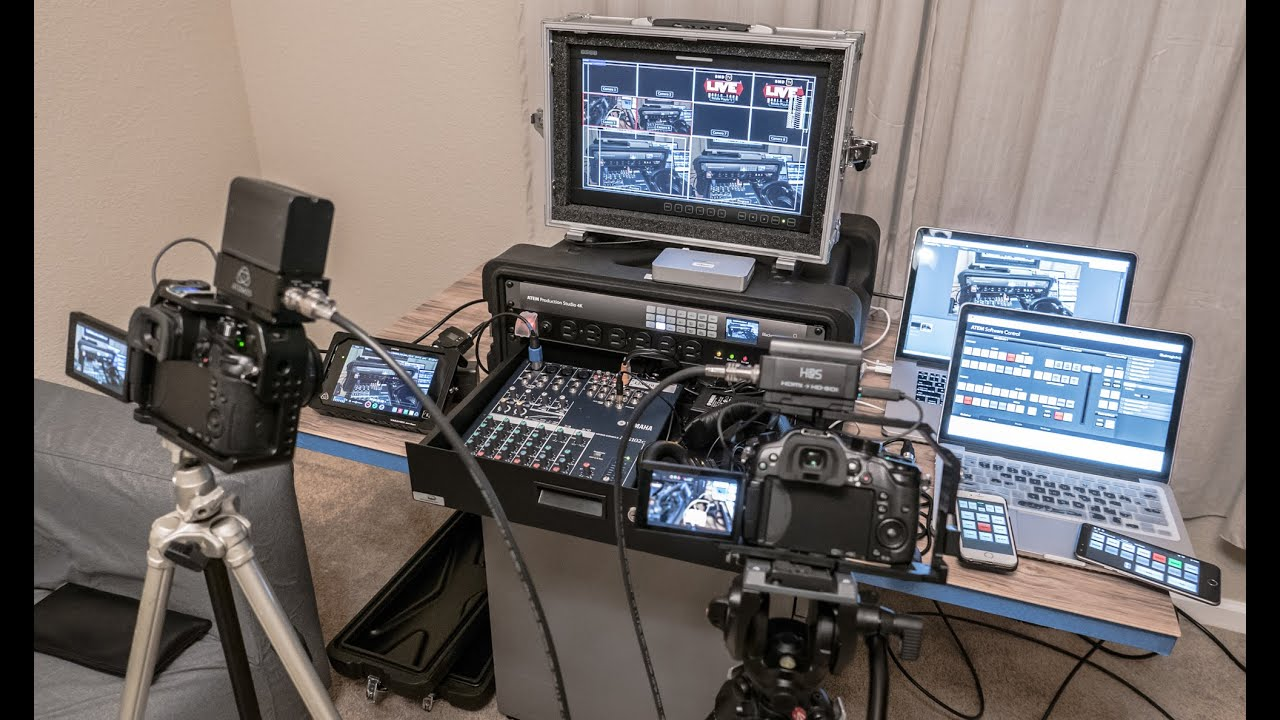 Walk through blackmagic design 4k atem multi cam live for Camera streaming live
